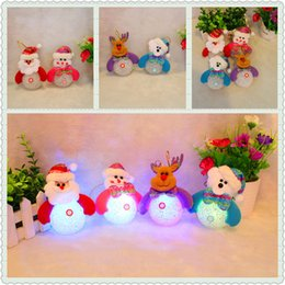 Wholesale Colored Christmas Trees - Different Patterns Christmas Tree Decoration light Supplies Indoor Christmas Hanging Santa Claus Snowman deer Tree hang light