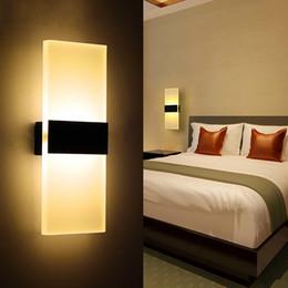 luz nocturna de escaleras Rebajas Moderno Acrílico 6w LED Lámpara de pared Iluminación de aluminio Encendido / Apagado Aplique decorativo Luz de noche para camino Escalera Dormitorio Balcón Unidad W
