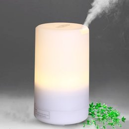 Wholesale Car Aromatherapy Diffuser Wholesale - 100ML led essential oil diffuser air humidifier aromatherapy electric diffuser 7 led lights aroma diffusers DC 5v USB Air Humidifier