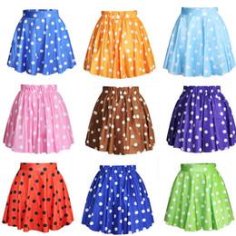 Wholesale Blue Polka Dot Skirt - 11 Colors Cute Mini Skirt Women's Fashion Casual Polka Dot Digital Print Stretchy Pleated Skater Short Skirt