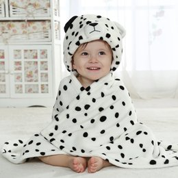Wholesale Newborn Hooded Blanket - Infant Blanket Swaddling Cute Animal Baby Hooded Bathrobe Bath Towel Boy Girl Blanket 0-6 Year Envelopes Newborn Cover Soft cloak hoodies