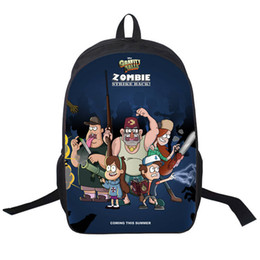 Wholesale Navy White Shopping Bags - Wholesale- 2015 cartoon Mabel Gravity Falls kids school bags girl shopping teenager backpacks for student boys Travel bags free shipping