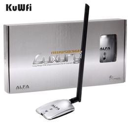 Wholesale Usb Antenna Wifi Alfa - Wholesale- AWUS036H LUXURY ALFA Network Ralink3070L 2.4Ghz High Power Wireless USB Wifi Adapter 2*8dBi Antenna with long range