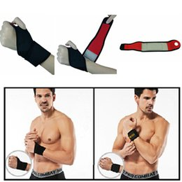 Wholesale Tourmaline Bands Wholesale - Adjustable Athletics Wrist Support Wrap Tourmaline Self-heating Wrist Support Straps Bands Braces for Lifting Crossfit Workouts Sports
