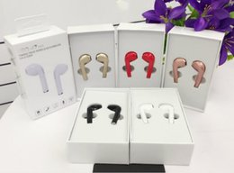 Wholesale Earpiece Bluetooth - HBQ i7 Mini Bluetooth Twins Earphones Handsfree True Wireless Headset Earbuds in Ear Earpiece with Mic for iPhone Android with Retail Box
