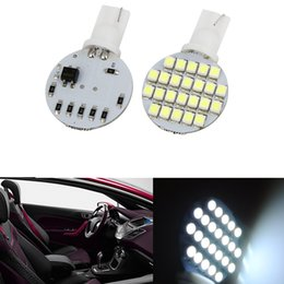 Wholesale Rv Led Dome Lights - 50PCS Wedge T10 24 SMD LED 194 921 W5W 1210 147 168 192 RV Light Lamp Bulbs White wholesale price 12V DC