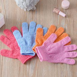 Wholesale Wholesale Nylon Body Scrubs - Bath Shower Exfoliating Glove for Scrub Bathroom Peeling Exfoliating Towel Glove Bath Shower Accessories Sponge Bath Shower Nylon Tool