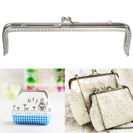 Wholesale Metal Handbag Frames - Metal Silver Purse Frame Handles purse Clasp Diy Handbag Holder Accessories for Bagbag Frame Bag Handle