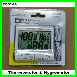 Wholesale Measure Humidity - Household Digital Thermometer and Hygrometer with LCD Screen Indoor Outdoor Max Min Moisture Meters Temperature Humidity Measuring Device