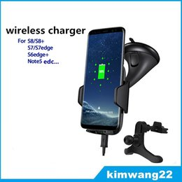 Wholesale Nexus Car Chargers - Fast Qi Wireless Car Charger Mount Holder Charging Cradle for Samsung s7, s8 edge, note5 nexus 4 5 6 for iphone5 6 7