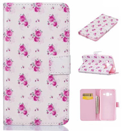 Wholesale Lg Spirit - For Galaxy A510 J510 A310 J310 LG LS770 Magna H502 Leon spirit H422 Leon H340N Butterfly Blossom Cute Bird Cartoon Wallet Leather Flower