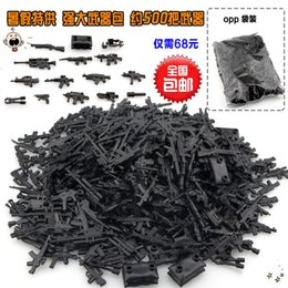 Wholesale Building Blocks Police - WholeSale 400pcs Military Series Guns Weapons SWAT CITY Police Army Minifigures Assemble Building Blocks Kids Learning Toys Gifts