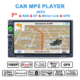 Wholesale Touch Screen Radio Navigation - Universal 7 Inch 2 Din Bluetooth Auto Multimedia Car Stereo MP5 Player GPS Navigation AM FM RDS Radio Monitor CMO_223