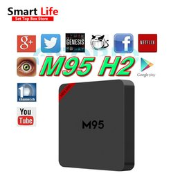 Wholesale Allwinner Android Box - 2017 Upgrade allwinner H2 M95 H2 Android TV BOX KD 16.1 Android 4.4 Streaming Media Players Mini PC VS M9S V5 Z8 Z9 MIX T95N