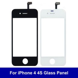 Wholesale Iphone 4s Outer Glass - AAA+++ Quality Front Glass Lens Touch Screen Digitizer For iPhone 4 4S Outer Glass Panel Sensor Replacement Part Free Shipping Tracking Numb