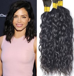 Wholesale Braid Hair Weft - Human hair for braiding bulk no attachment 300g water wave braiding human hair no weft 3 pcs brazilian braiding hair bulk no weft