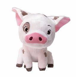 """Wholesale Collectible Pigs - EMS New 8.5"""" 21CM Moana Plush Doll Kid's Pet Pig Dolls Anime Collectible Animals Stuffed Soft Best Gifts Toys"""