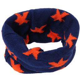 Wholesale Kids Infinity Scarves Wholesale - Wholesale- Hot Winter Warm Scarves Ring Baby Knitting Warm Neckerchief Korea Style Cute Kids Children Infinity Scafves DP852273