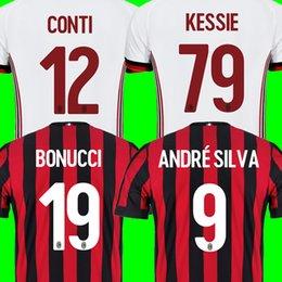Wholesale Milan Shorts - AC MILAN 2018 soccer jerseys BONUCCI 19 ANDRE SILVA 9 CONTI 12 KESSIE 79 RODRIGUEZ 68 MUSACCHIO BOCCA BORINI 11 SUSO AC milan jersey 17 18