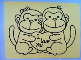 Wholesale Sand Art Sticker Cards - Wholesale- Free shipping 2000pcs Sticker cards for sand art A4 size