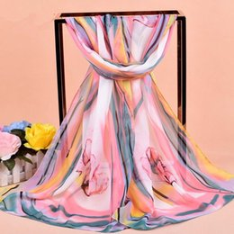 Wholesale Scarves For Painting - Fashion New Infinity Scarfs For Women Abstract Painting Print Scarves Fashion Chiffon Scarf Pashmina Shawl Hijab Handkerchief