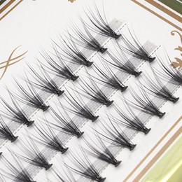 Wholesale Silk Eyelashes Individual - High end 20 root fine hand artificial false eyelash planting graft eyelashes 0.05 mink velvet silk beauty special false eyelashes