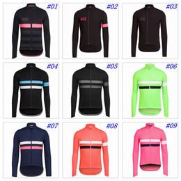 Wholesale Winter Bike Wear - 2017 RCC Cycling Tops Long Sleeves Winter Thermal Fleece Cycling Jerseys MTB Ropa Ciclismo Millot Bike Wear Size XS-4XL 9 Colors
