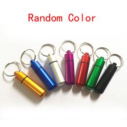 14x50mm цвет Mix алюминиевая коробка кеш контейнер тайник брелки держатель брелок для ключей бутылки от