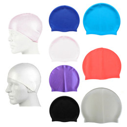 Wholesale Pool Fittings - Wholesale- Unisex Latex Swim Cap Hat 1 Size Fits All Waterproof Shower Bath Hat 1PC Swimming Pool Cap