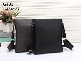 Wholesale Mens Designer Leather Handbags - Men's Vertical PU leather bags Men Messenger bag Mens Business Handbag Briefcase designer Crossbody bag Shoulder bags G101