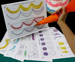 2019 ziehrohr 23 teile / satz Kuchenglasur Piping DIY Praxis Reißbrett Vorlage Papier Dekor Praxis Vorlage Paste Fondant Dekorieren günstig ziehrohr