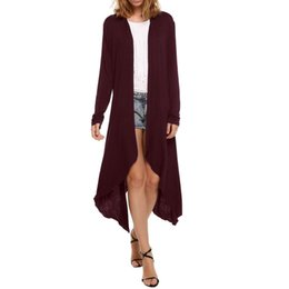Wholesale Long Sweater Trench Coat - Hot Selling Dust Coat 10 Colors Sell like hot cakes on the new long sleeve trench coat models hot style long cardigan sweater