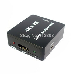 Wholesale Fedex Pro - 20pcs  lots HDMI 1x2 Pro Powered Splitter Support 1080P & 3D & Ultra HD 4K 2K & Full 3D HD,By DHL UPS Fedex