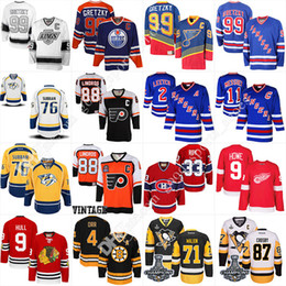 Wholesale White Cotton Xl - Men's Bobby Orr Eric Lindros Wayne Gretzky jersey Mark Messier Brian Leetch Patrick Roy Bobby Hull Gordie Howe PK Subban Hockey Jerseys
