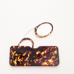 Wholesale Glasses Wallet - Unisex Wallet Nose Resting Reading Glasses with Case Credit Card Size,Nose Clip Reading Glasses +1.0+1.5+2.0+2.5+3.0+3.5