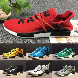 Wholesale Human Trainer - 2017 NMD Human Race Runner Boost,Pharrell Runners and Trainers NMD Boost Running Shoes, Hu race Williams Pharrell x White Red Yellow black