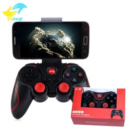 Wholesale Bluetooth Controller Android - C8 Smartphone Game Controller Wireless Bluetooth Phone Gamepad Joystick for Phone Pad Android Tablet PC TV BOX+phone holder