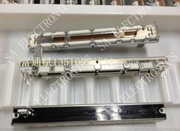 Wholesale Potentiometer Push Pull - Wholesale- [BELLA]Taiwan Fu Hua Slide sliding push-pull single-joint dust 7.5 cm B10K Potentiometer 10mm shank--10PCS LOT