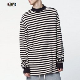 Wholesale Baggy Hoodies - Wholesale- Fashion Men's Oversized Hoodies Plus Size Street White Black Striped Loose Baggy Hoody Long Sleeve Hoodie Men For Hipster