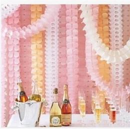 2019 lanterna di carta fantasma Carta fatta a mano fiori a nido d'ape trifoglio ghirlanda di carta per matrimonio festa di compleanno decorazione di natale casa decori 3 m fiori di carta HQ001
