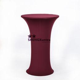 Круглый стол онлайн-10шт круглая база спандекс крышка стола для коктейля