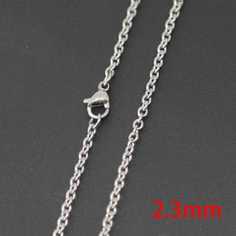 "Wholesale Wedding Glasses Wholesale - 10pcs super lowest price Silver Jewelry Stainless Steel 18"" 20"" 24"" 30"" 2.3mm necklace Chains for living glass lockets & Diffuser oil Locket"