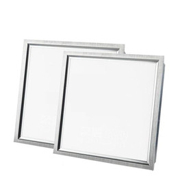 Wholesale Suspended Panel - Dimmable 40W 48W led panel 600mm x 600mm Silver White Framed led panel 2ft X 2ft Suspended led lights AC 110-240V UL FCC