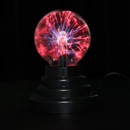 Wholesale Magic Star Light - Wholesale- Hot 3 inch Magic Plasma Ball Retro Light Kids Room Decor Gift Box Lightning Light Lava Lamp Party Cristal Lamp Ninght Light