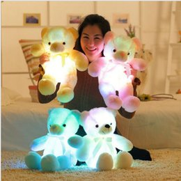 Wholesale Teddy Home - 50cm Light Up LED Teddy Bear Stuffed Animals Flashing Plush Toy Colorful Glowing Teddy Bear Gift for Kids Home Decoration