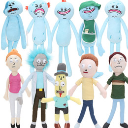 Wholesale Stuffed Animals For Ems - 50pcs EMS 20-30cm Rick and Morty Caddy One-Eye Meeseeks Plush Toys Mr Poopybutthole Jerry Smith Soft Stuffed Animal Dolls For Kids Gifts