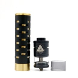 Wholesale Diamond Vaporizer - Wholesale- High quality Mechanical Electronic Cigarette DIAMOND Black mod Rod with Limitless RDTA Vaporizer Atomizer Vape Smoking mod Kit