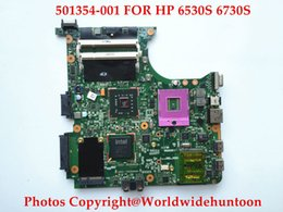Wholesale Intel Chipset Motherboard - Original laptop motherboard for HP 6530S 6730S 501354-001 GM45 Chipset DDR2 Fully tested Top quality