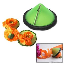 Wholesale Garnish Tools - Random Color 1PC Easy Carrot Cucumber Julienne Curler Decorating Maker Vegetable Fruit Shredders Slicers Garnishing Tool