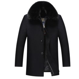Wholesale Age Breast - Wholesale- 2016 winter middle-aged men's wool woolen coat long thick comfortable warm large size XL-5XL business leisure high quality WZ3
